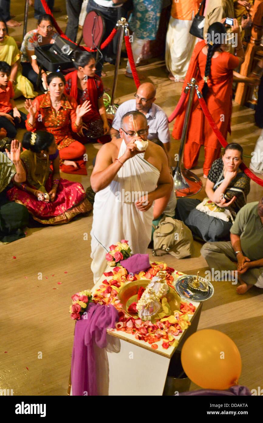 Toronto, Canada. 28th Aug, 2013. Janmashtami Celebrations at ISKCON Toronto © Nisarg Photography/Alamy Live News Stock Photo