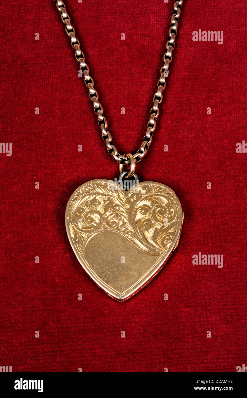 Gold Locket High Resolution Stock Photography And Images Alamy