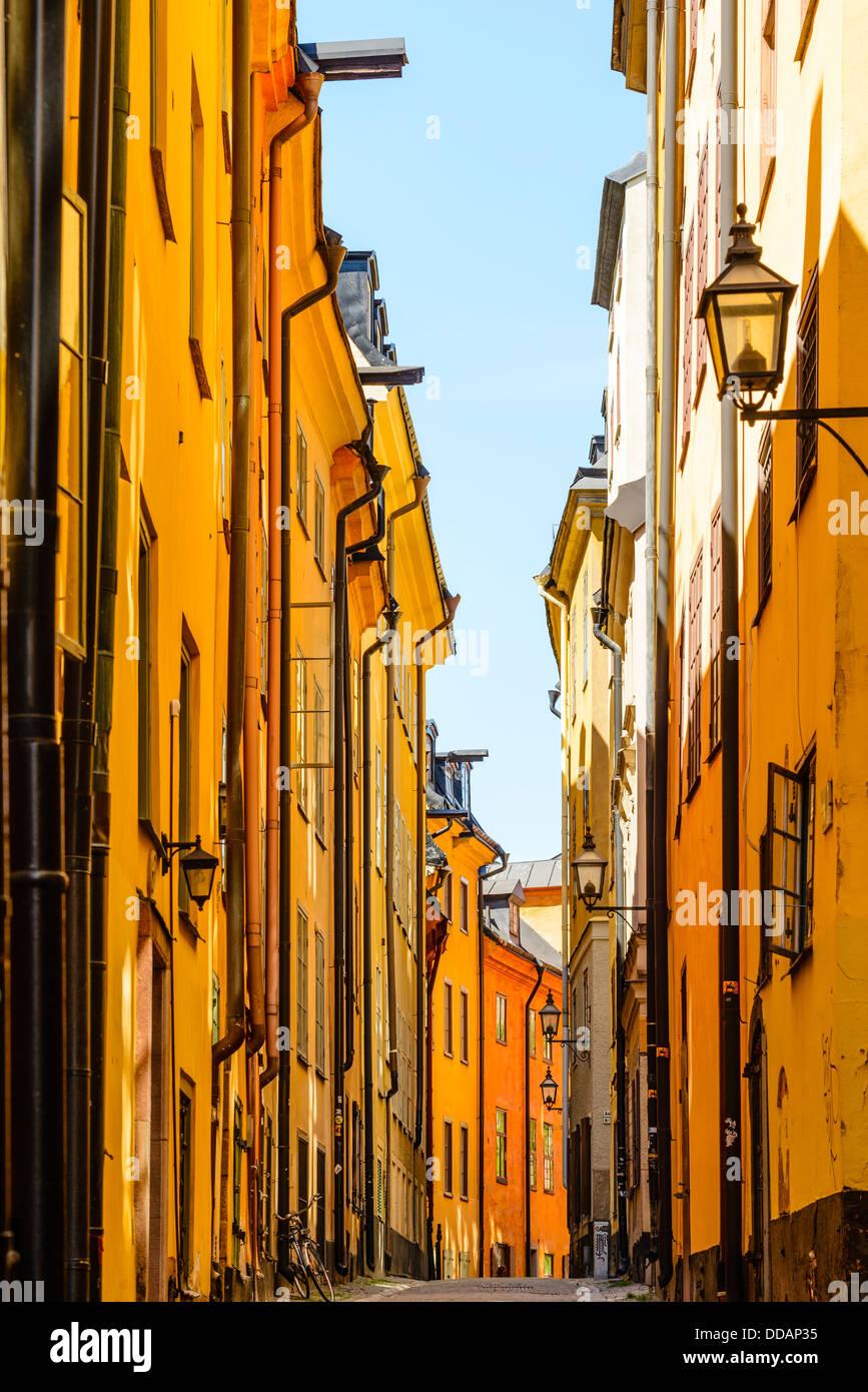 Street in Gamla Stan (Old Town) Stockholm Sweden - Stock Image