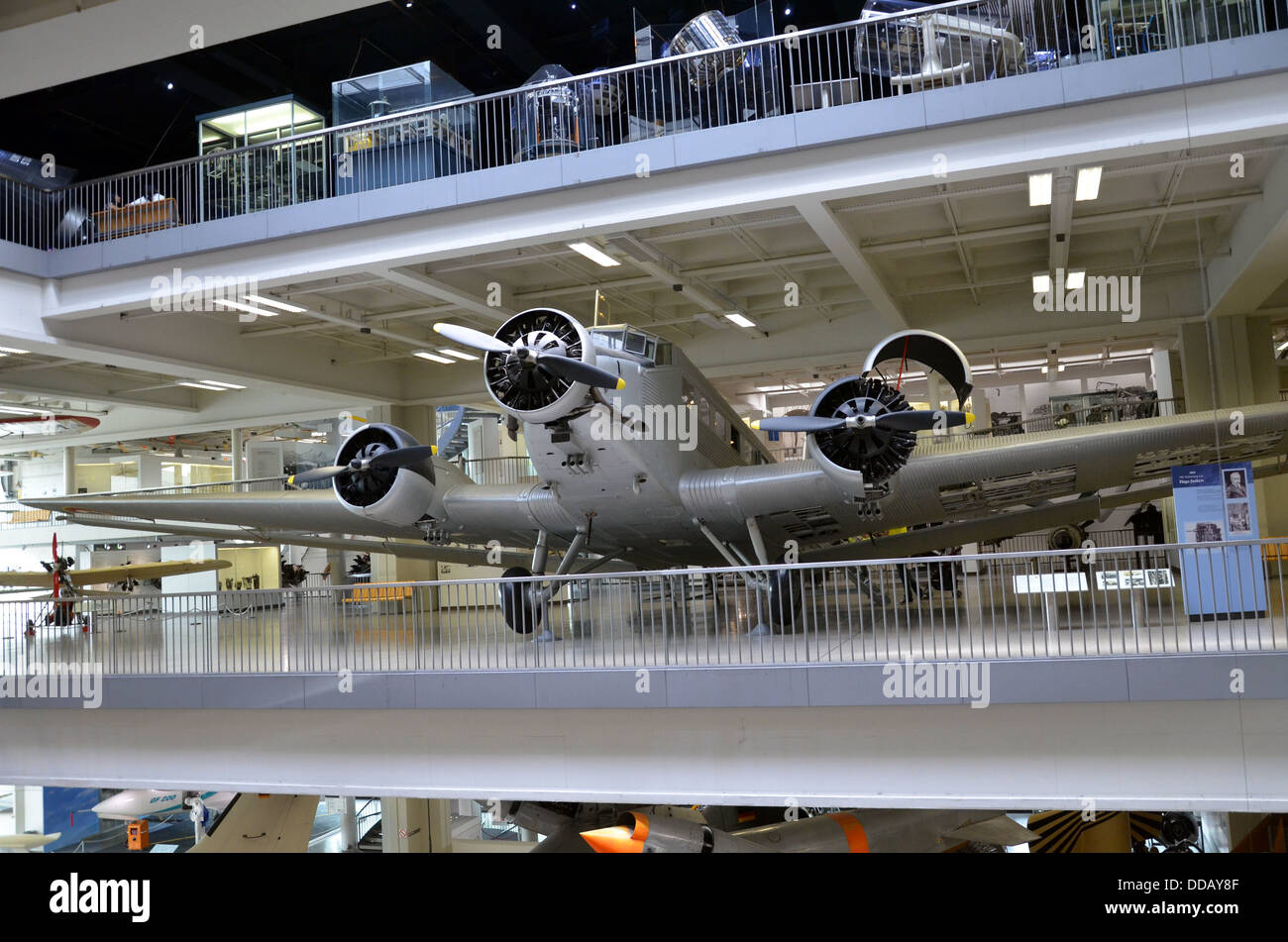 Germany Munich Deutsches Museum The three-engined Junkers Ju 52 from 1932. - Stock Image