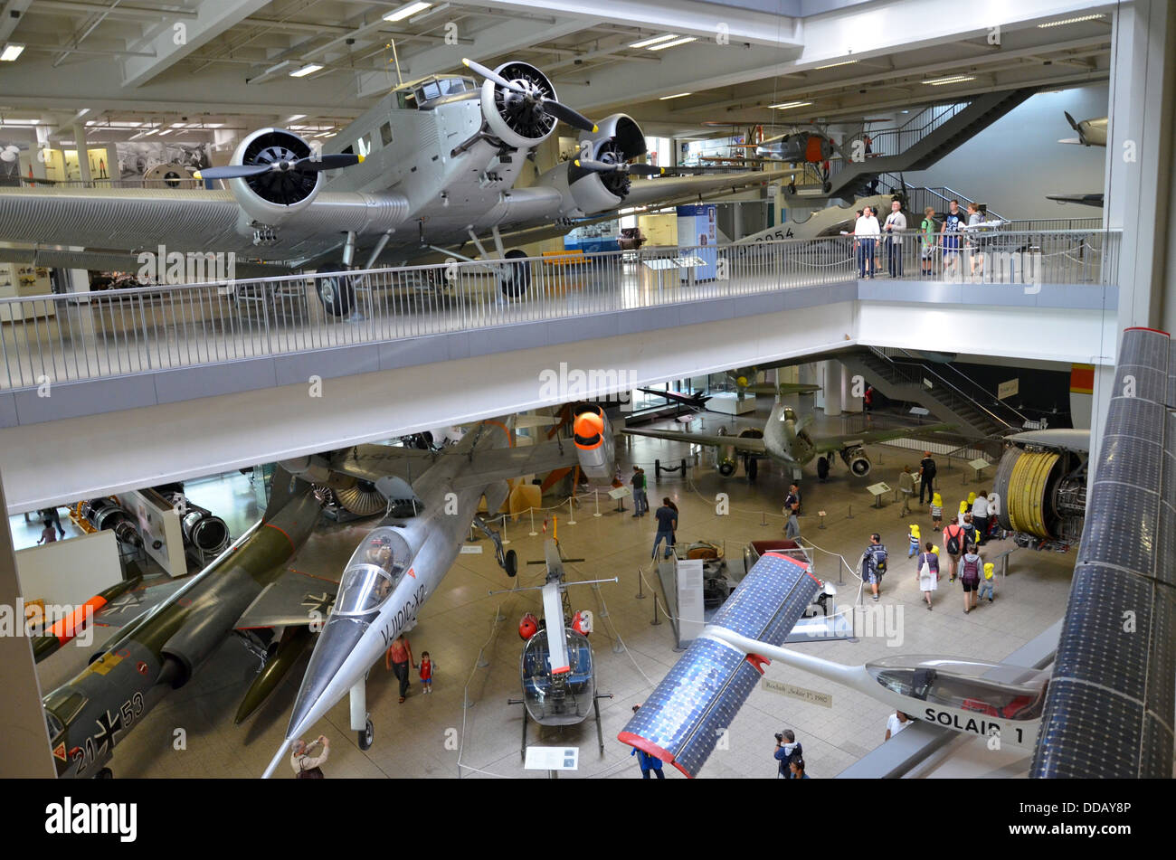Germany Munich Deutsches Museum The three-engined Junkers Ju 52 from 1932. Aircrafts on the Museum Island - Stock Image