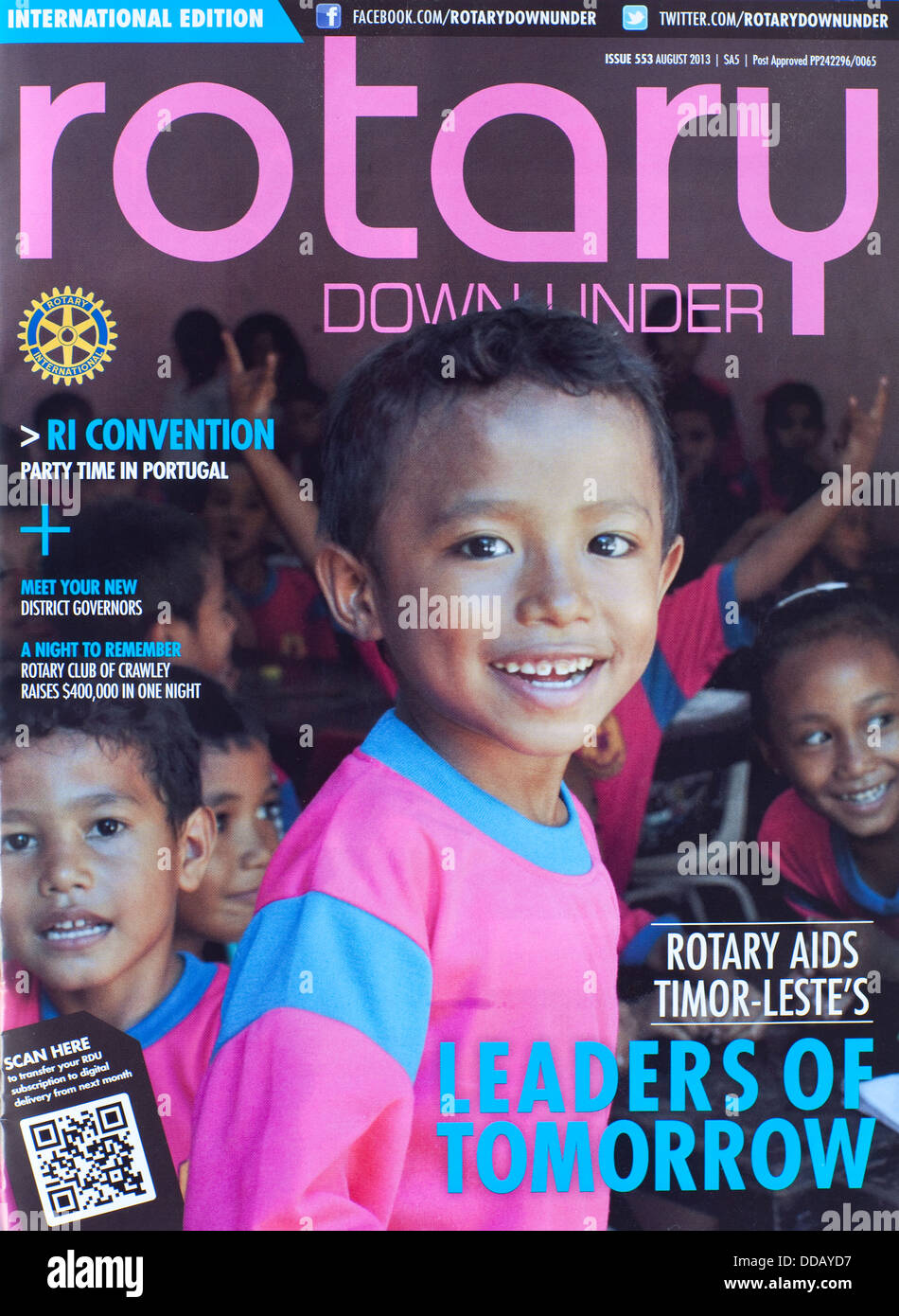 Rotary Downunder Magazine front cover - Stock Image