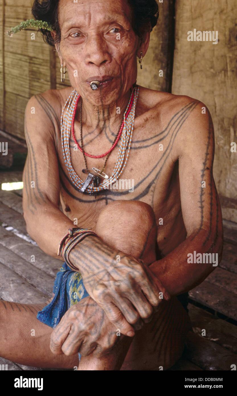 Siberut Island. Mentawai Islands. Sumatra. IndonasiaHe is the man who is living in the jungle in Siberut Island. - Stock Image