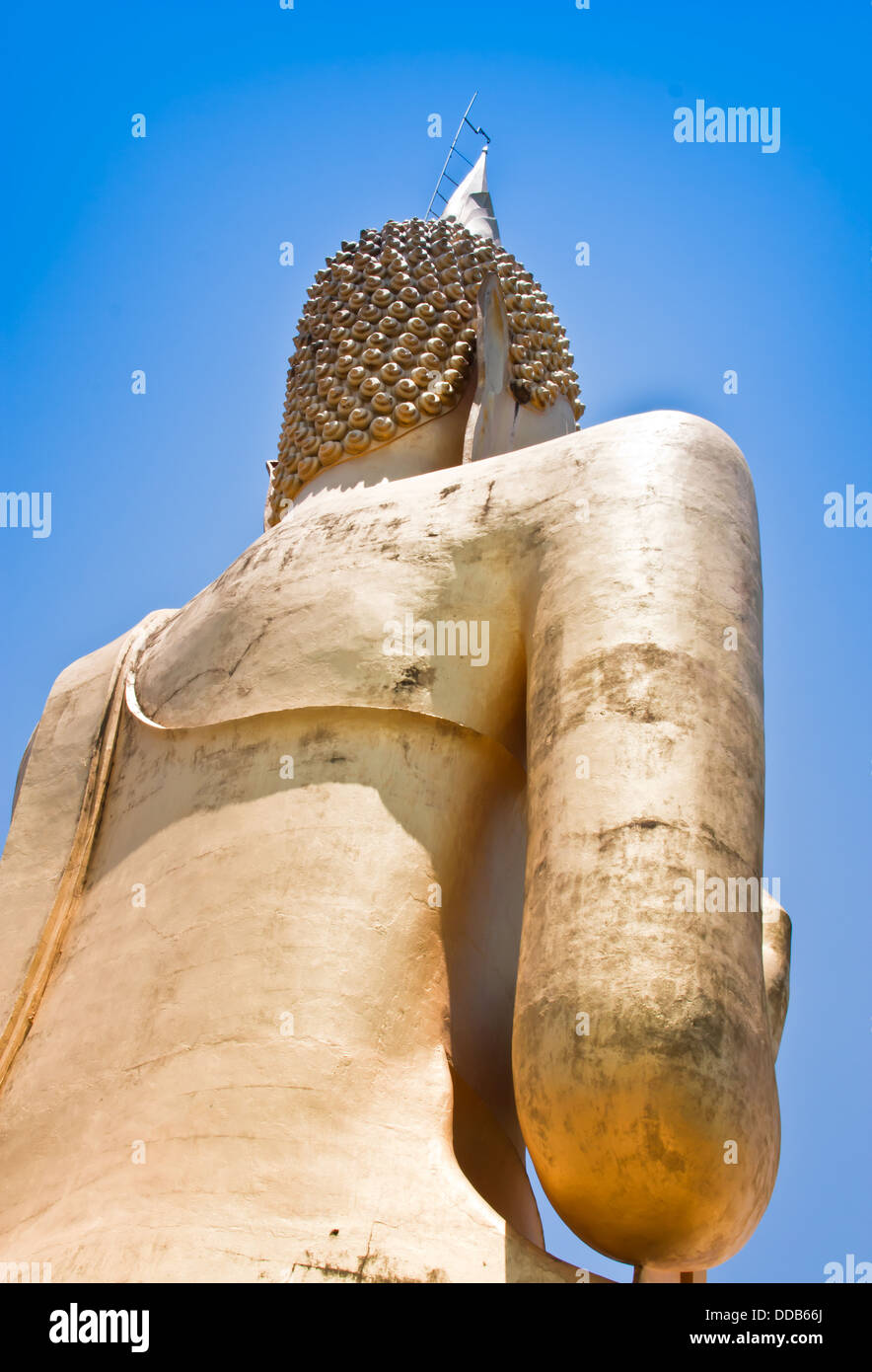 Buddha statue. A view from the back of buddha - Stock Image