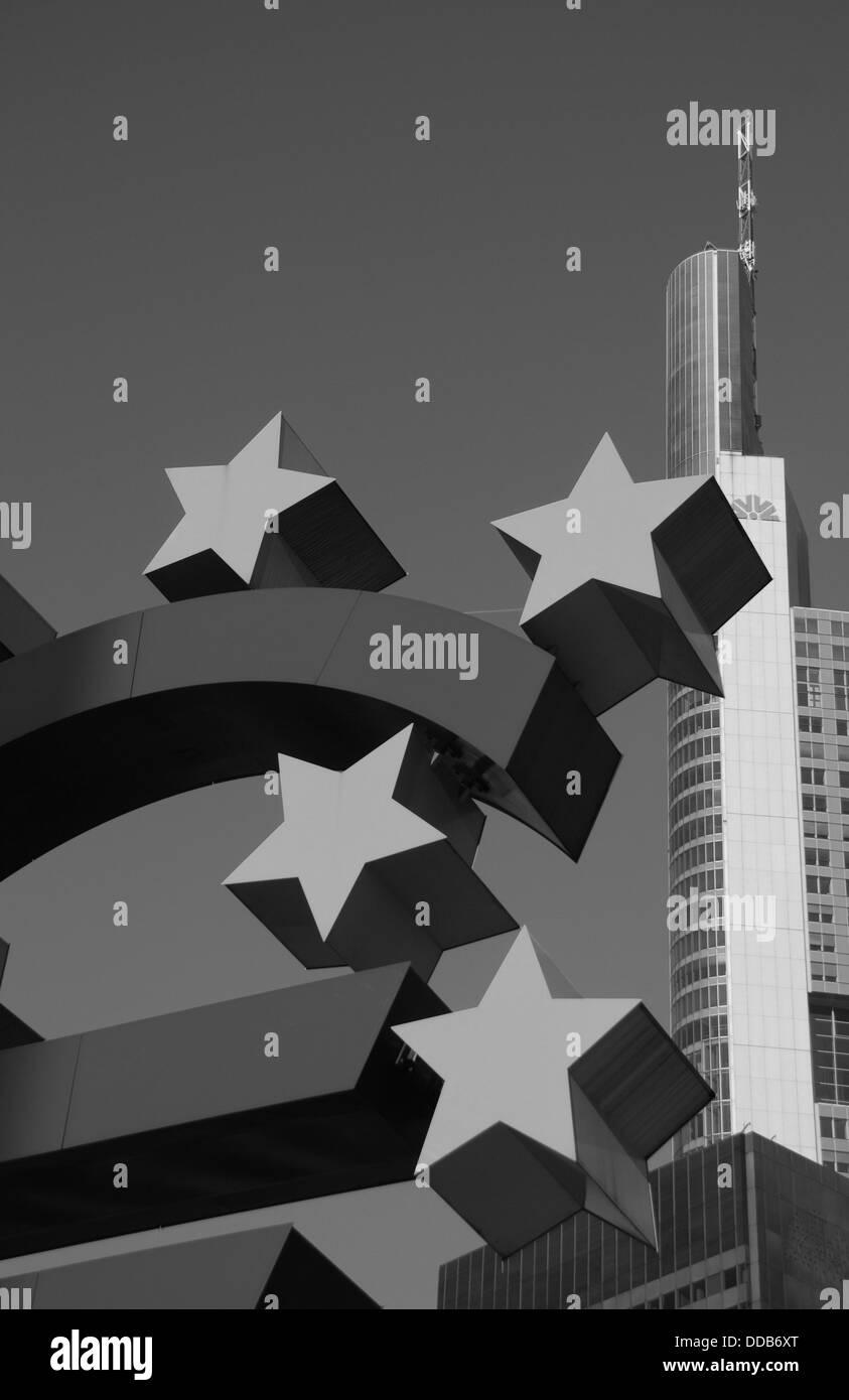 European Central Bank in Frankfurt / Main - Stock Image