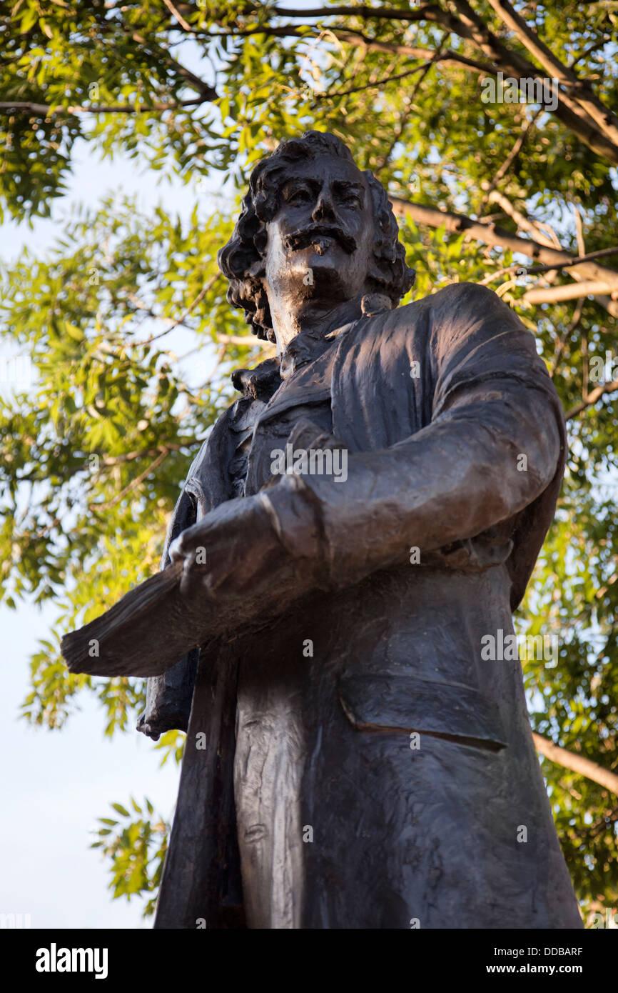 James Whistler Statue on Chelsea Embankment in London UK - Stock Image