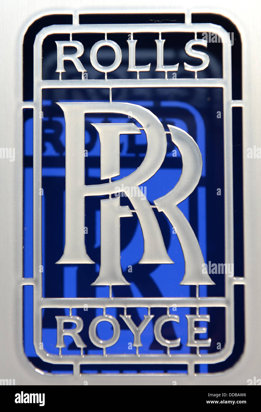 The logo of the Rolls-Royce aircraft engine manufacturing company in ...