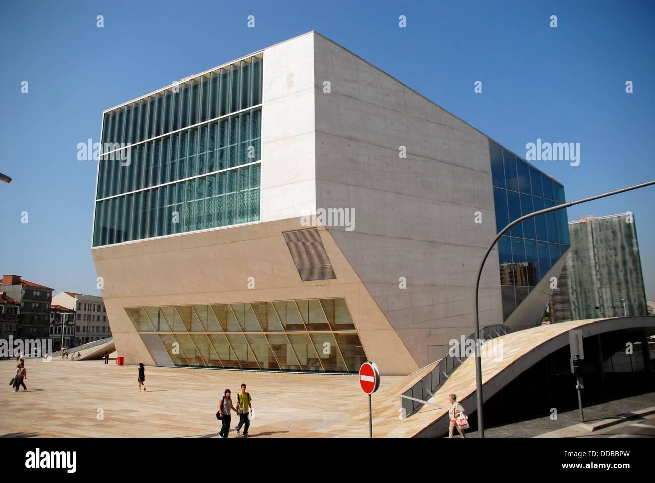 Casa da Musica concert hall by Rem Koolhaas, Porto, Portugal - Stock Image
