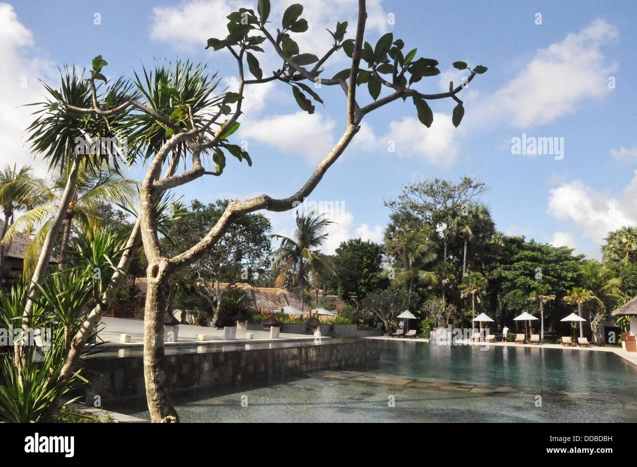 Jimbaran Bali Indonesia The Jimbaran Puri Bali Luxury Resort S Stock Photo Alamy