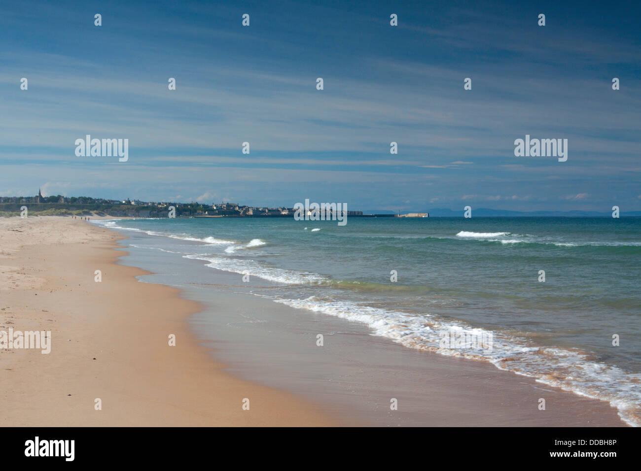 Lossiemouth and Lossiemouth Beach, Lossiemouth, Moray - Stock Image