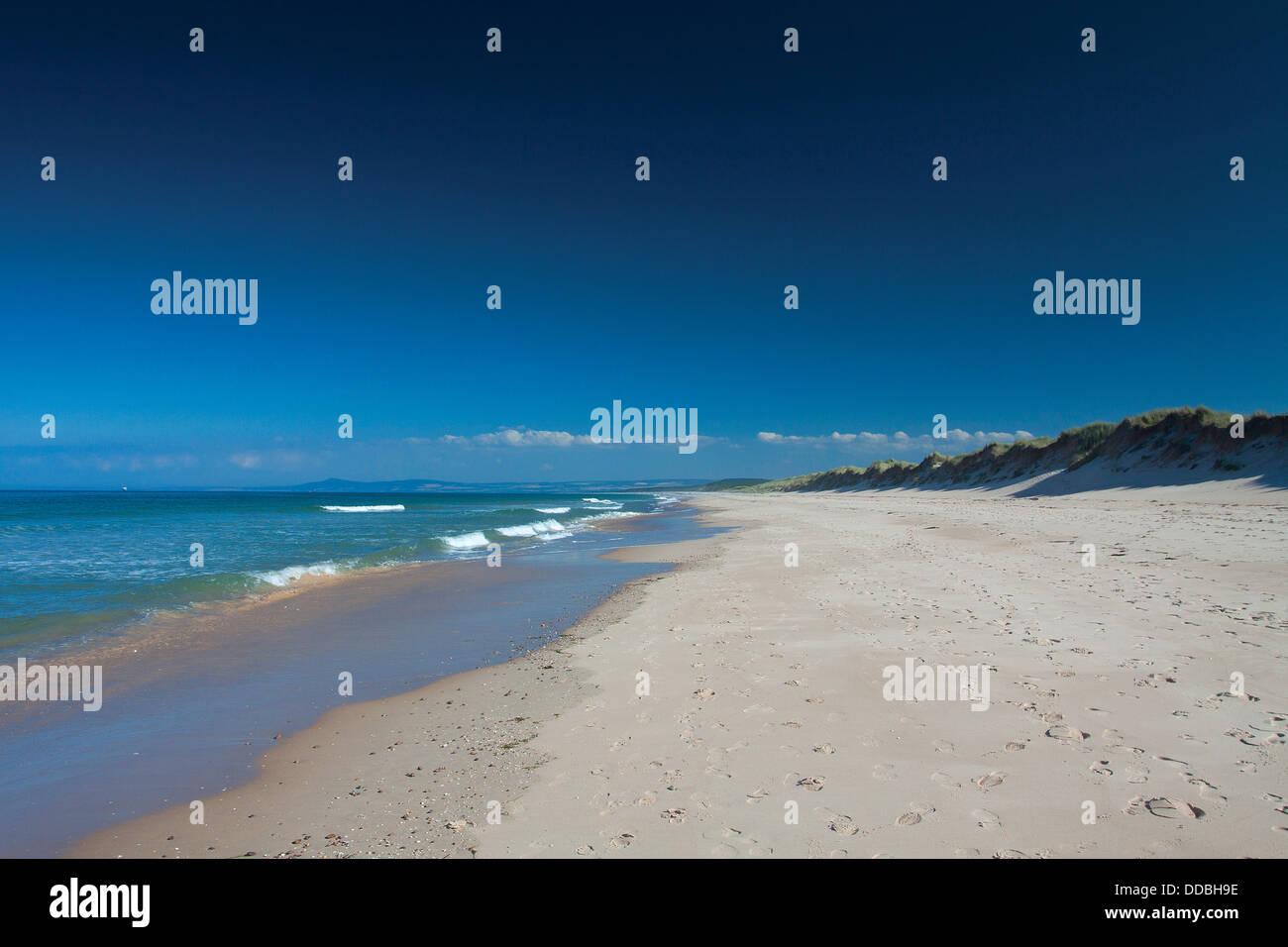 Lossiemouth Beach, Lossiemouth, Moray - Stock Image