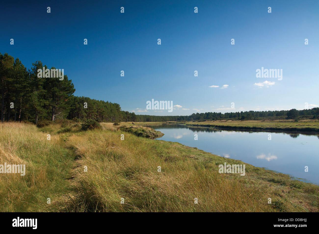 The River Lossie, Lossiemouth, Moray - Stock Image