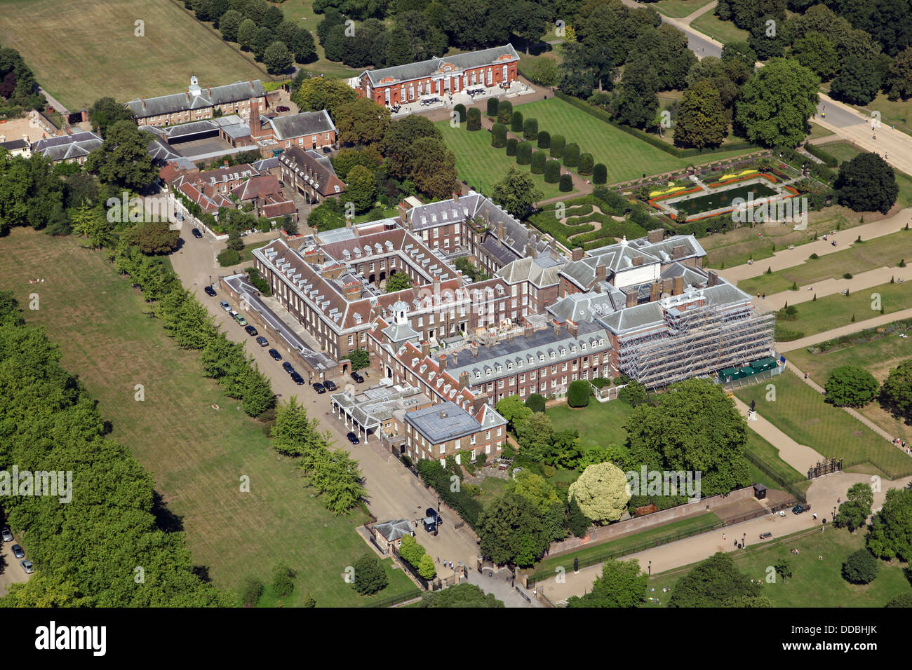 Low Country Home Plans Aerial View Of Kensington Palace In London Home Of Prince