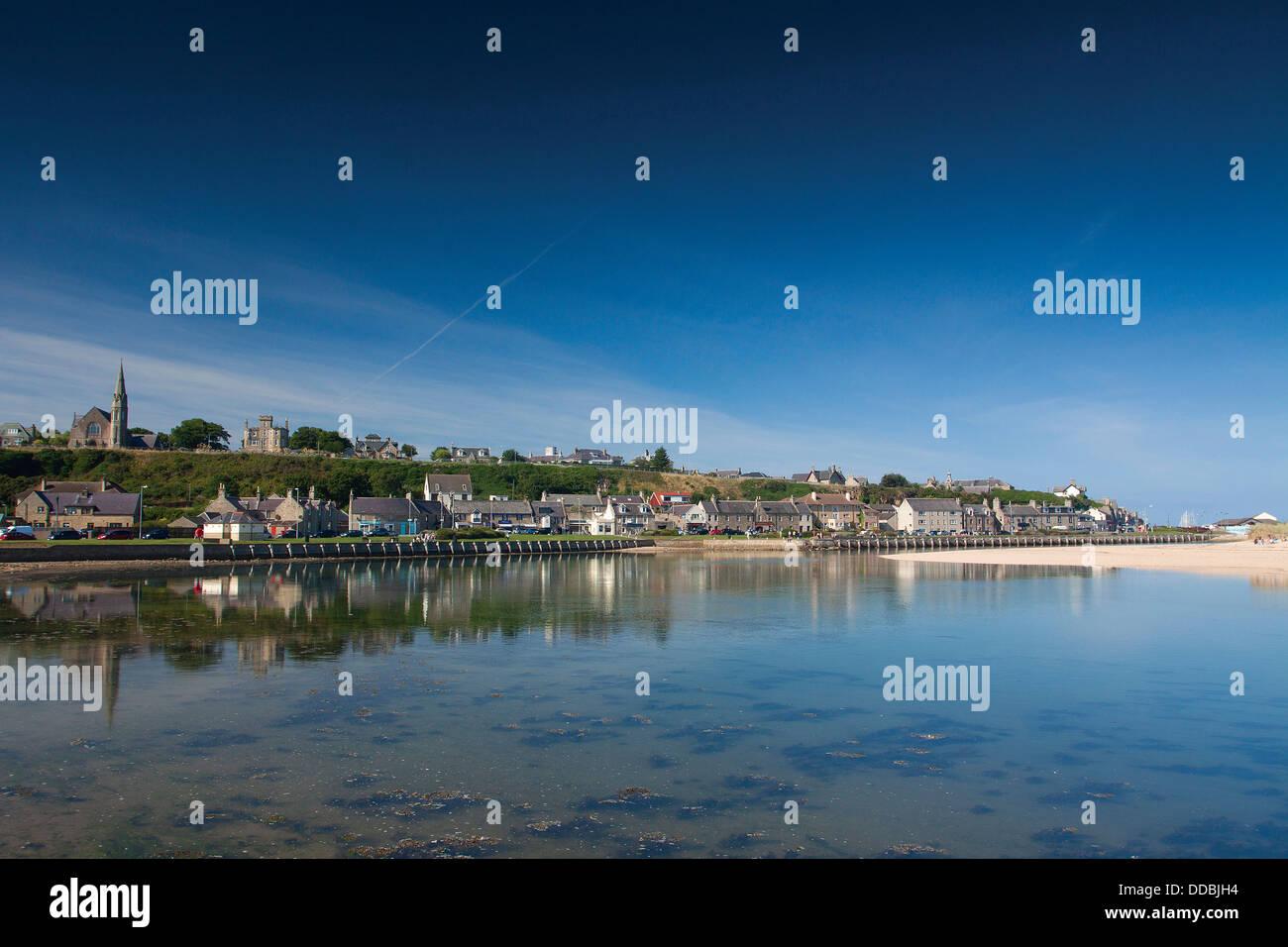 The River Lossie, Seatown, Lossiemouth, Moray - Stock Image