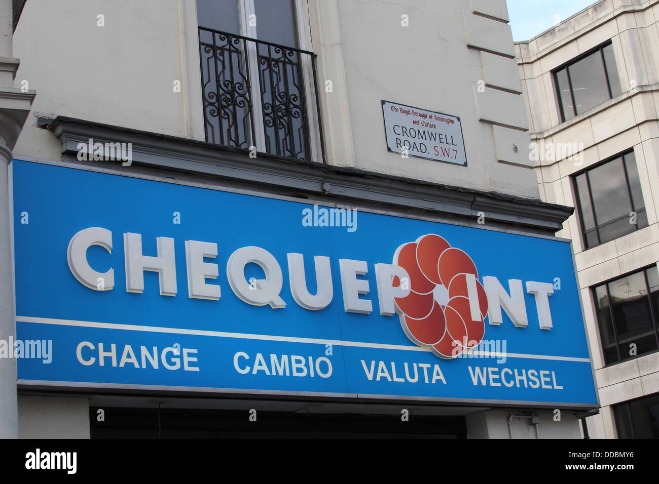 Chequepoint Storefront On Cromwell Road