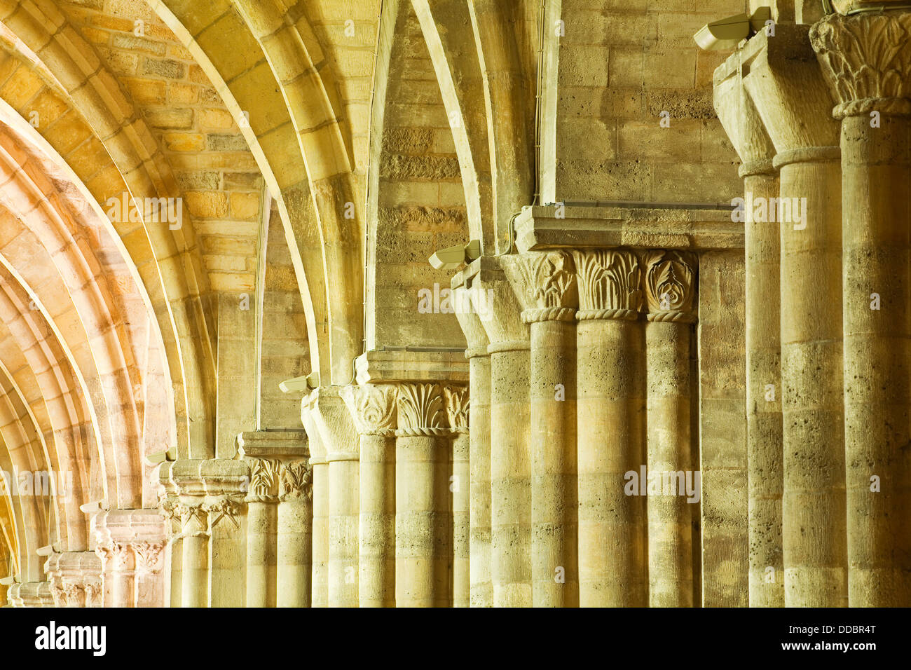 Gothic Columns In Basilique Saint Remi Reims France