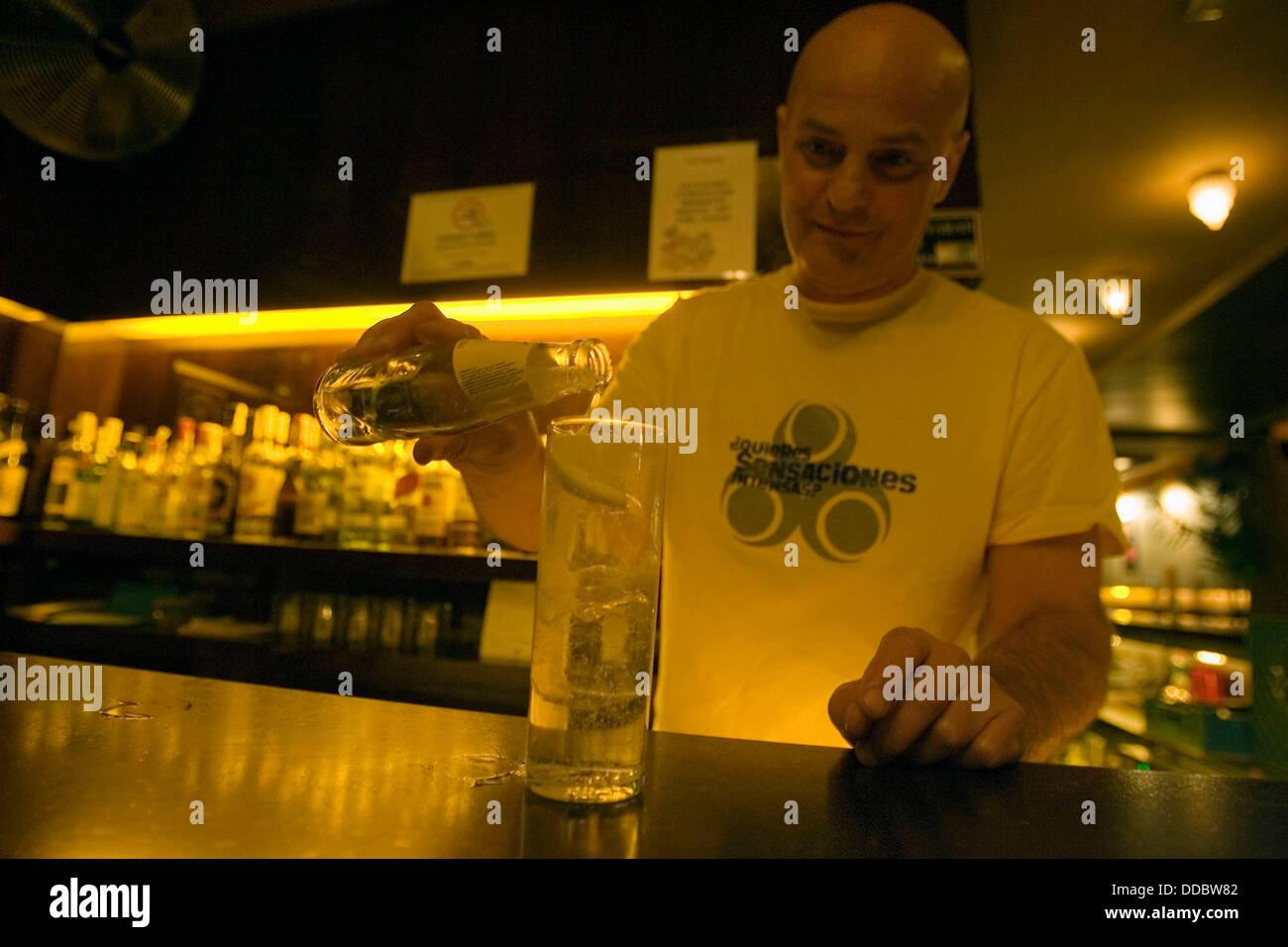Dietrich Café, gay bar. Consell de Cent 255, Barcelona, Spain - Stock Image