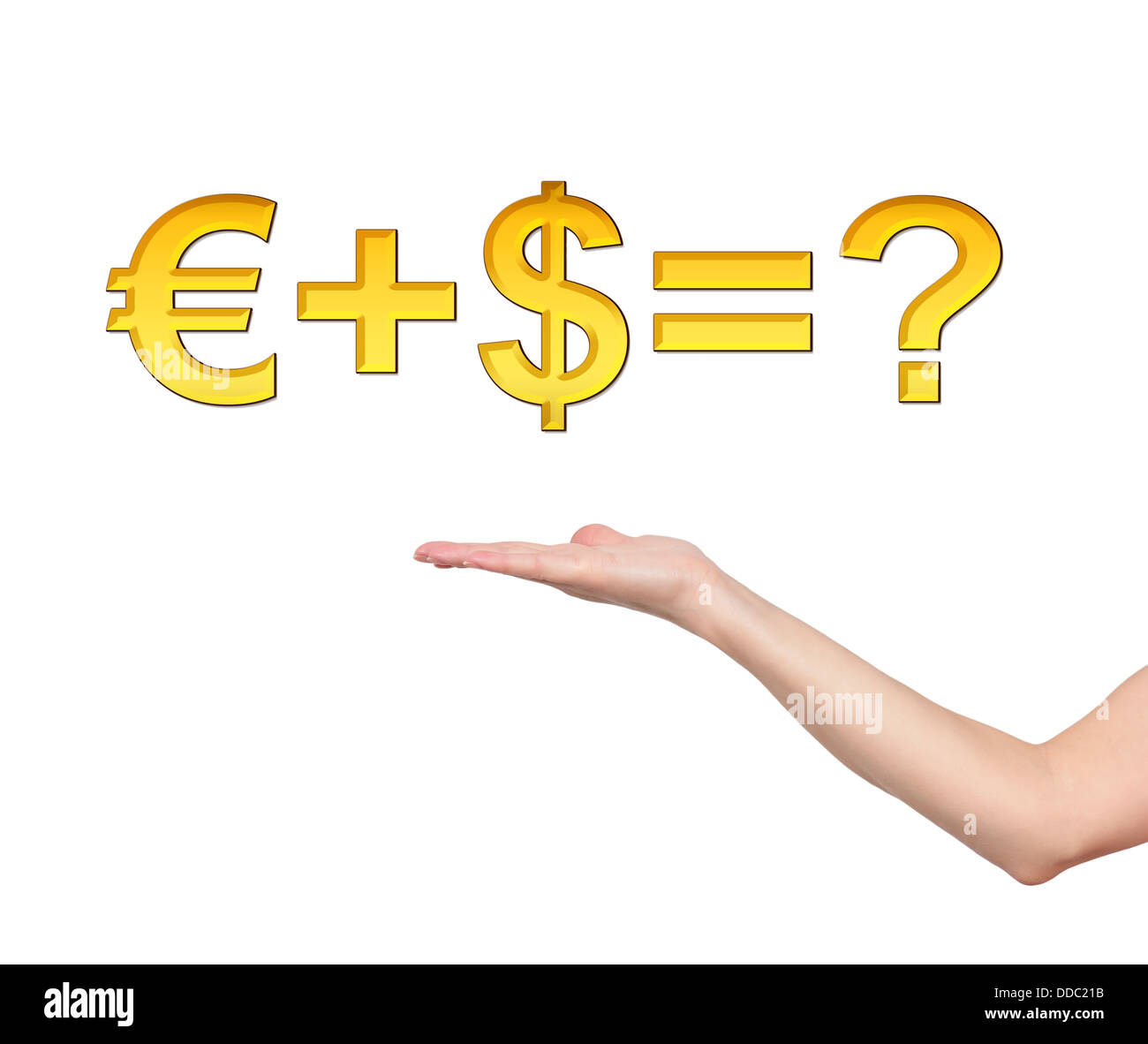 formula money and hand - Stock Image