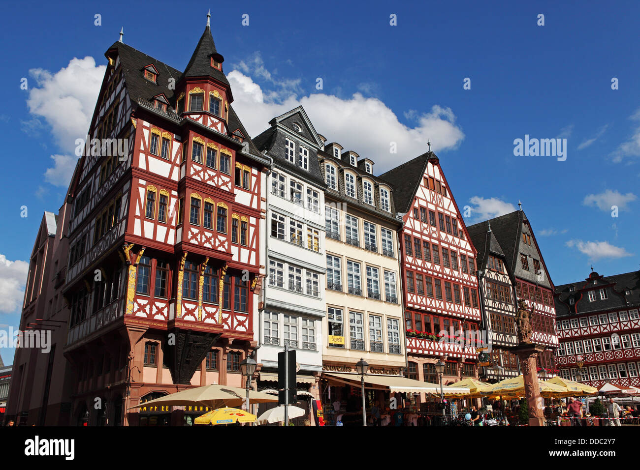 Half-timbered buildings of the Samstagsberg in Frankfurt-am-Main, Germany. - Stock Image