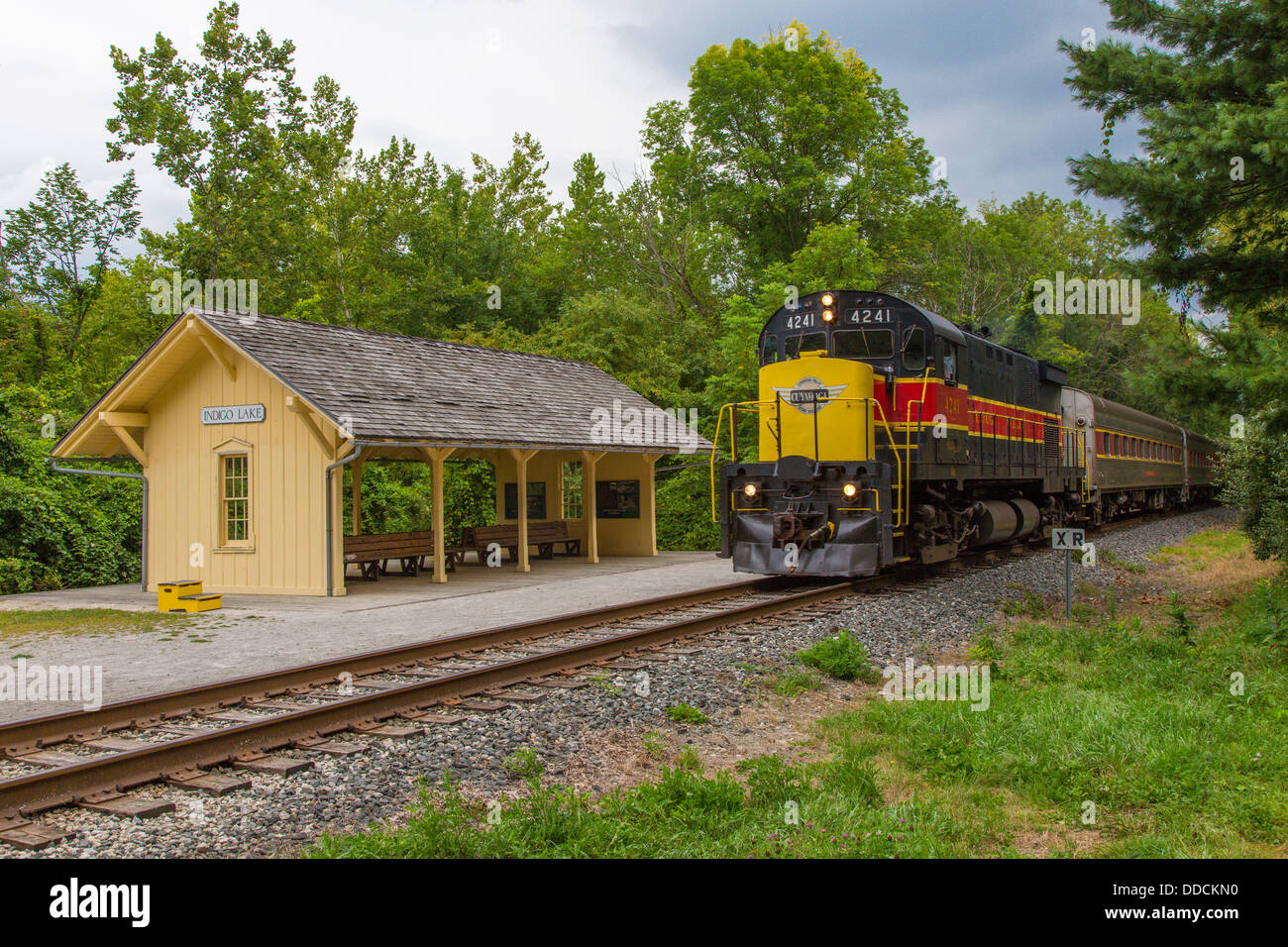Cuyahoga Valley Scenic Railroad passenger tourist train Cuyahoga Valley National Park in Ohio - Stock Image