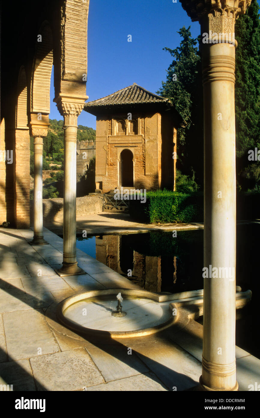 Partal. Oratory of `El Partal´, Alhambra, Granada, Andalucia, Spain - Stock Image