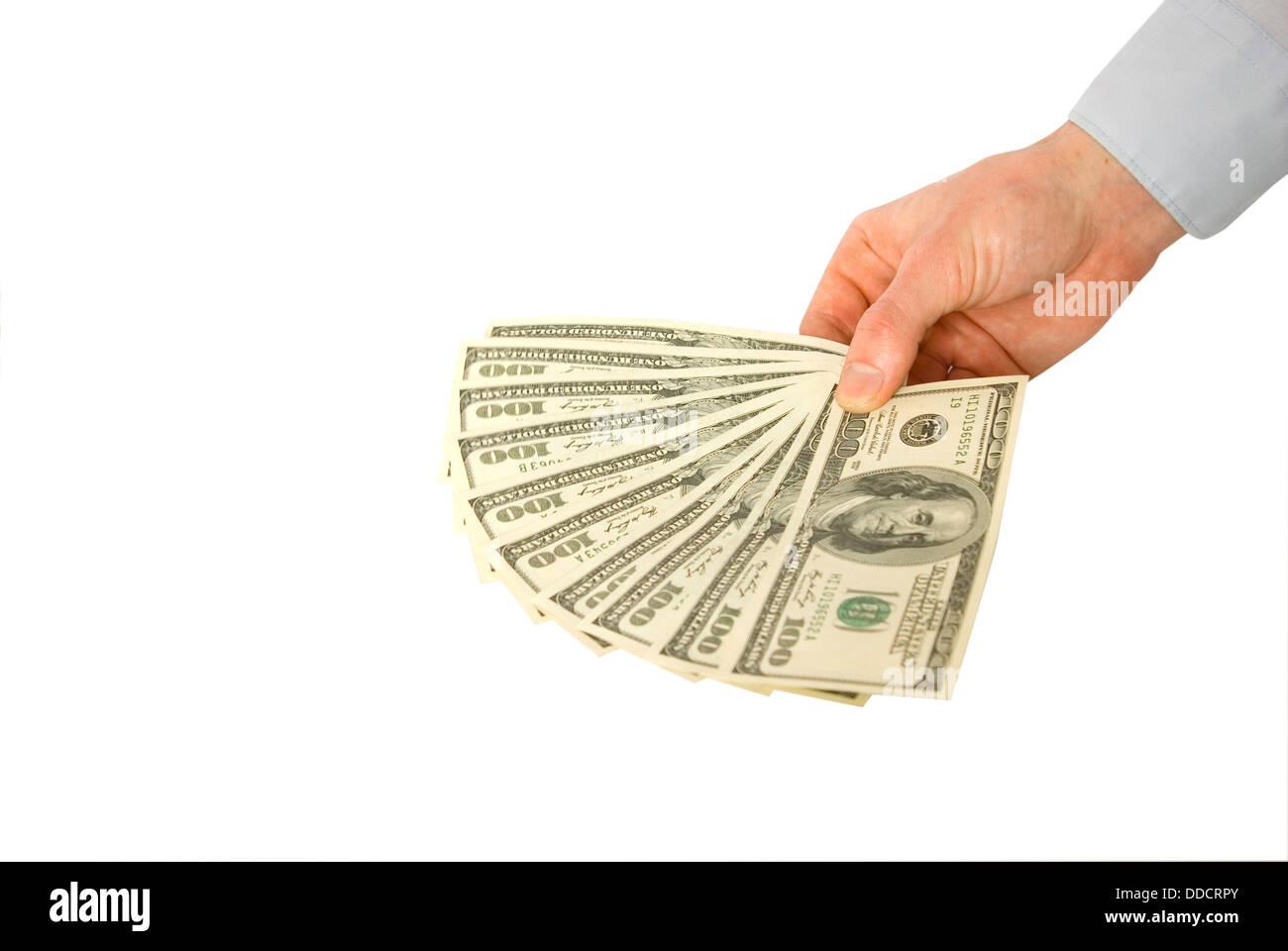 Money in hands - Stock Image