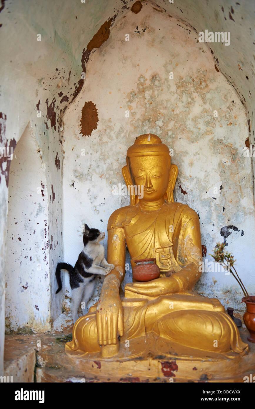 Myanmar (Burma), Shan province, Inle lake, Ywama village - Stock Image