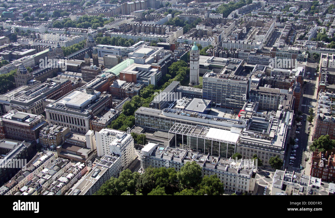 aerial view of Imperial College, London - Stock Image