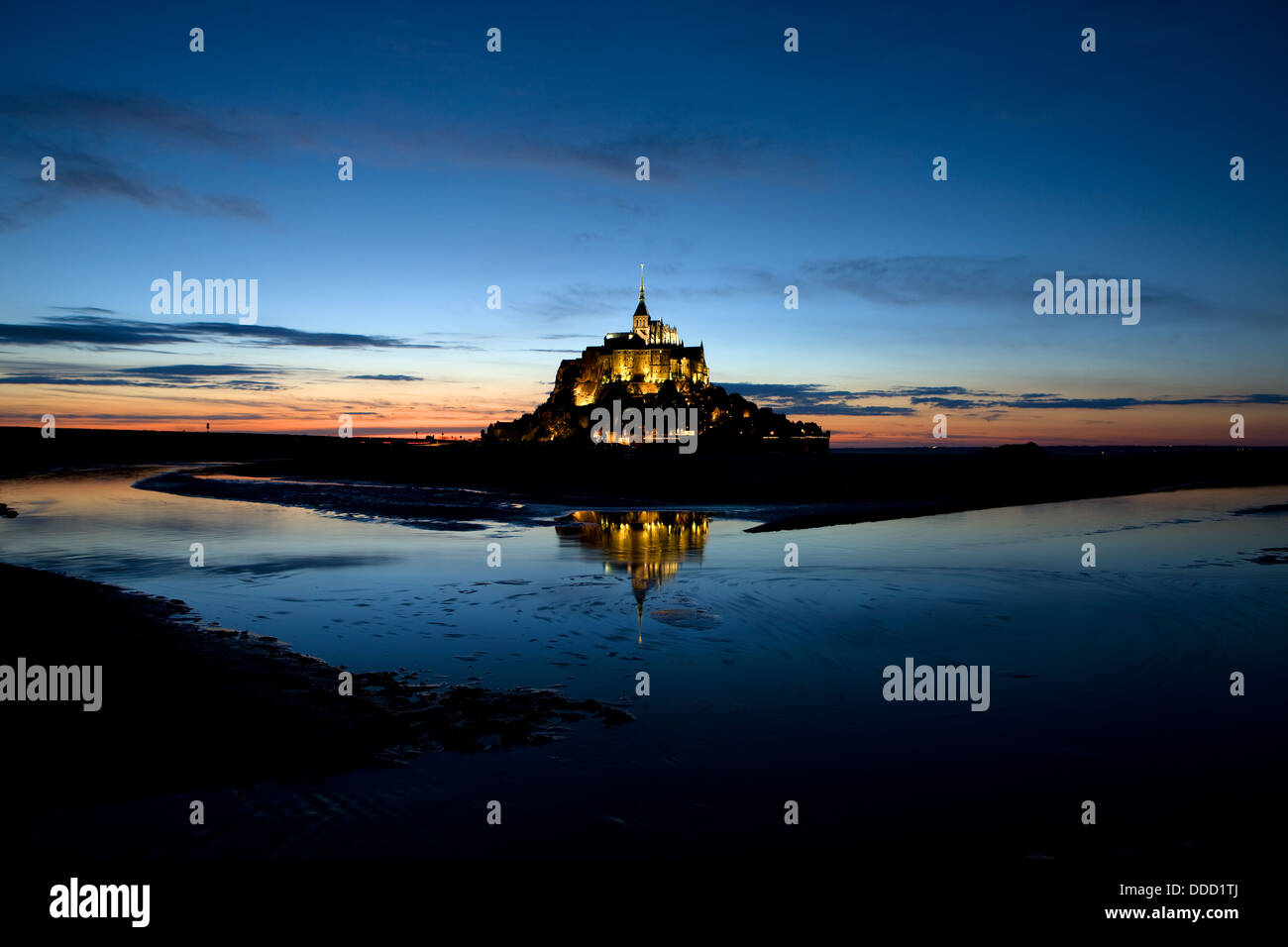 Mont Saint-Michel on the Normandy coast, France - Stock Image