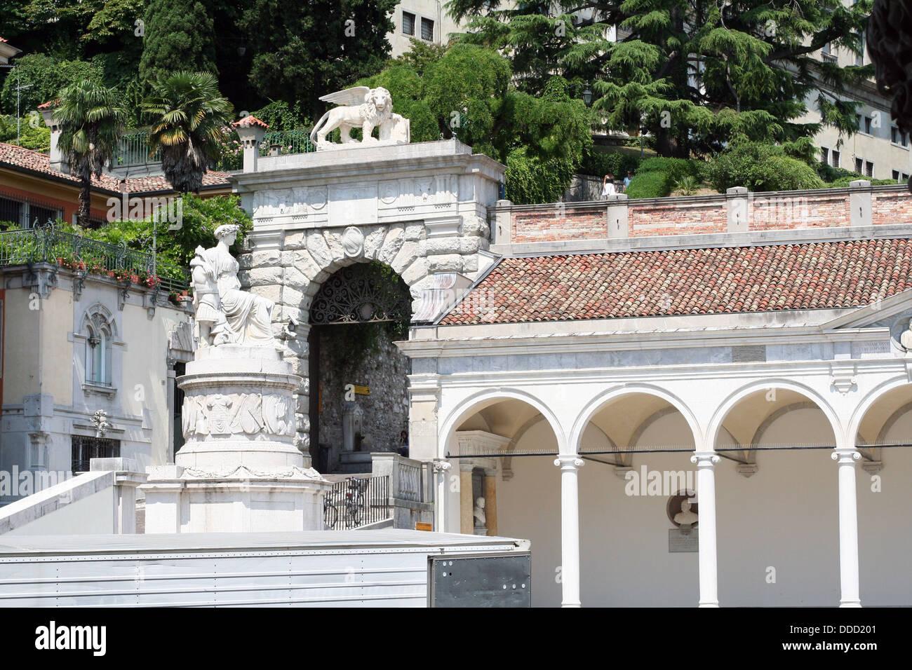 Udine, piazza della Liberta - Stock Image