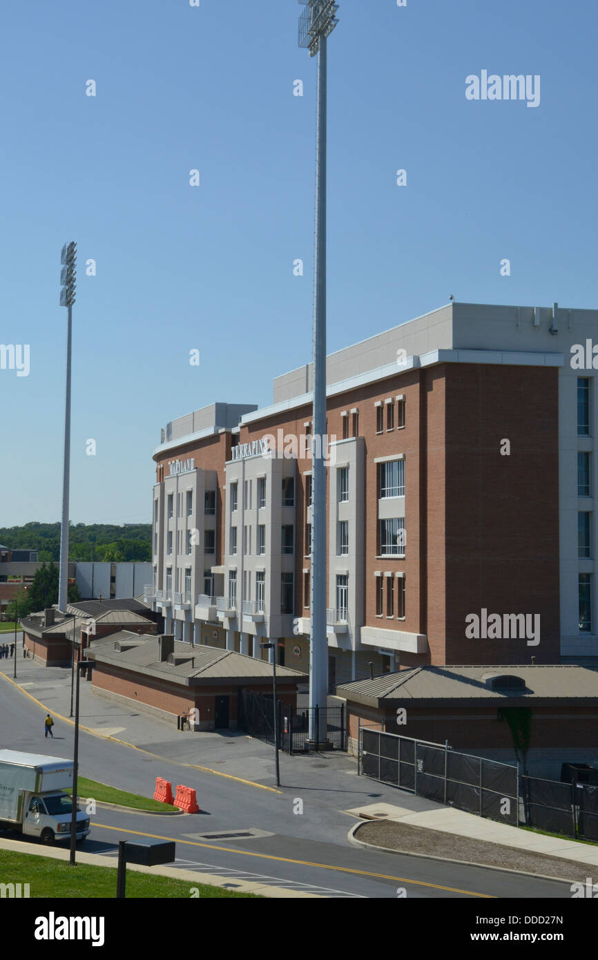 Exterior view of University of Maryland's Capital One's Byrd stadium in College Park, Maryland - Stock Image