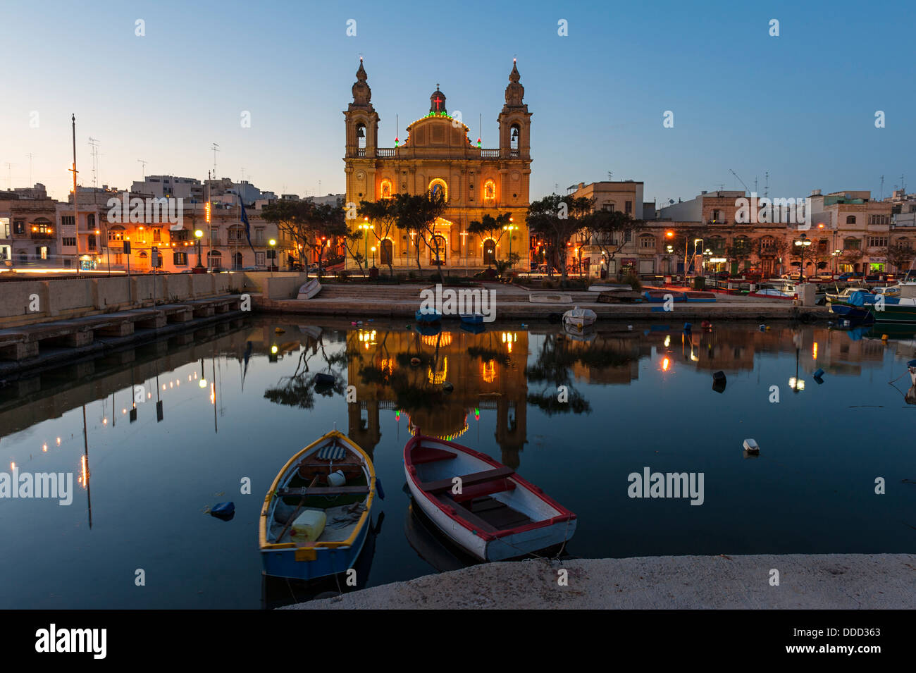 Msida Parish Church Malta - Stock Image
