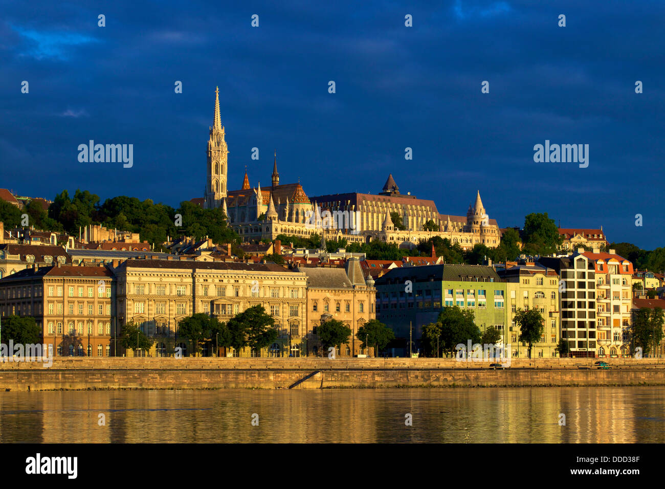 Matyas Church and Fisherman's Bastion, Budapest, Hungary, Europe - Stock Image