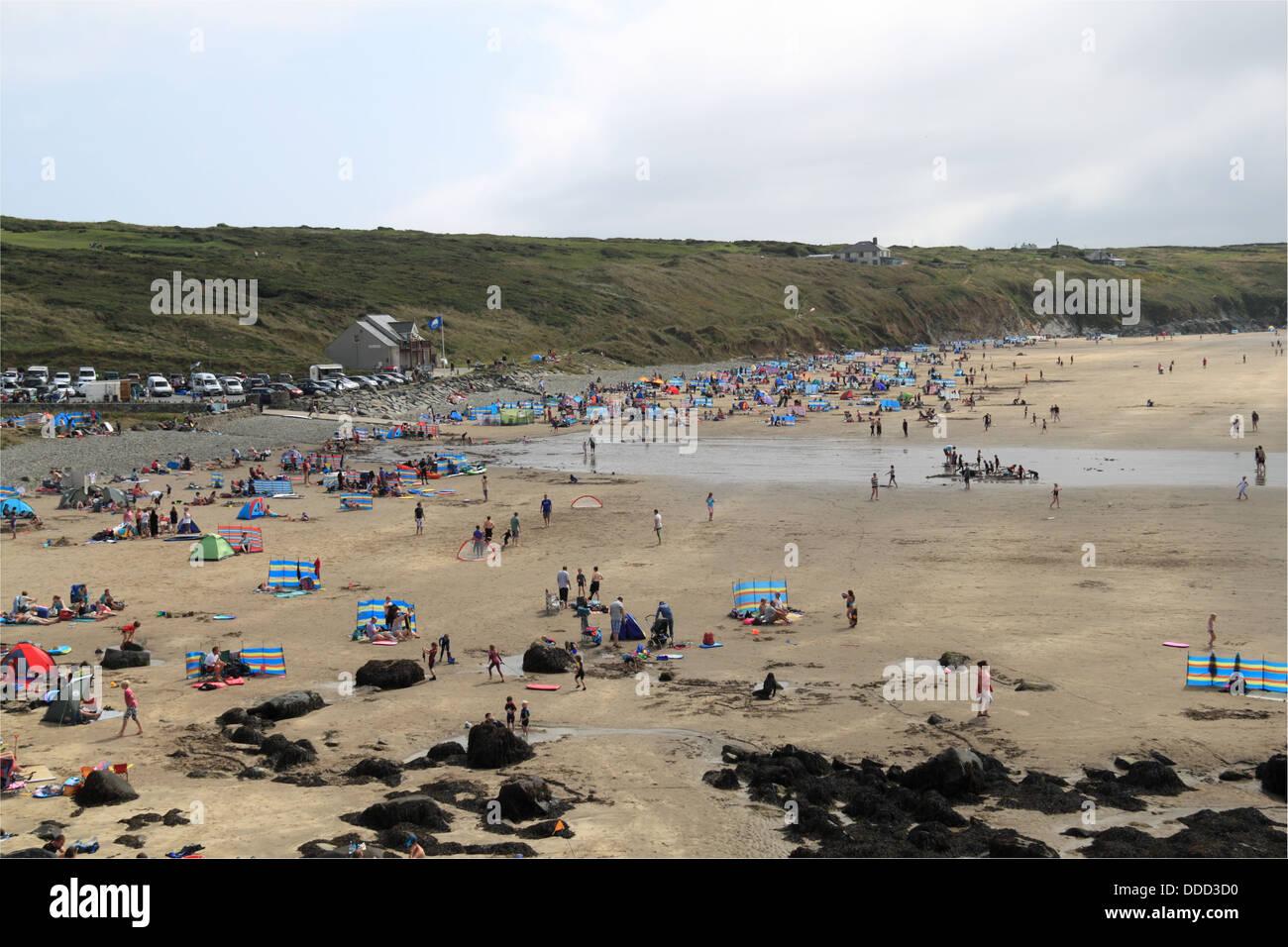 Whitesands Bay, St Davids, Pembrokeshire, Wales, Great Britain, United Kingdom, UK, Europe - Stock Image