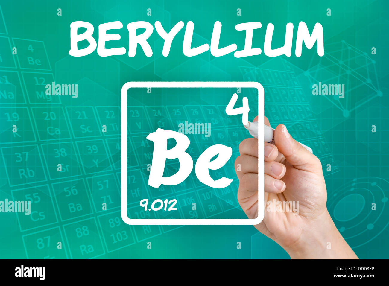 Symbol For The Chemical Element Beryllium Stock Photo 59910110 Alamy