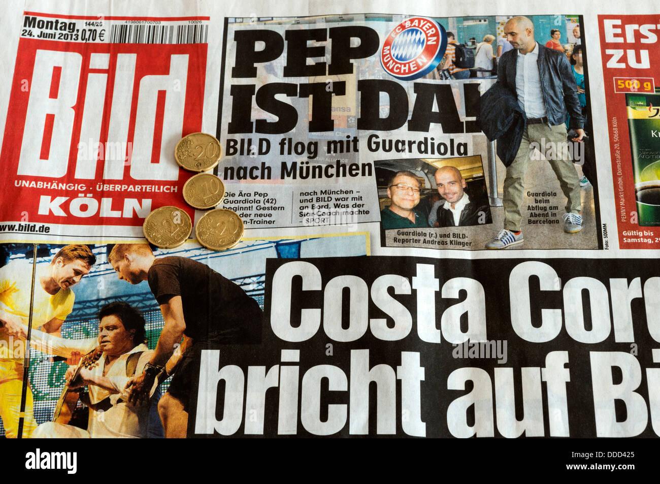 German tabloid newspaper Bild (Cologne) - Stock Image