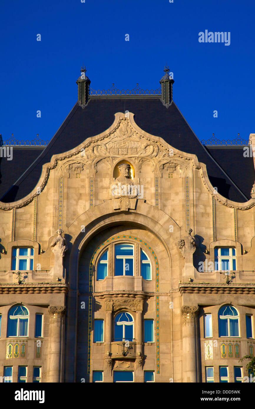 Four Seasons Hotel, Gresham Palace, Budapest, Hungary, Europe - Stock Image