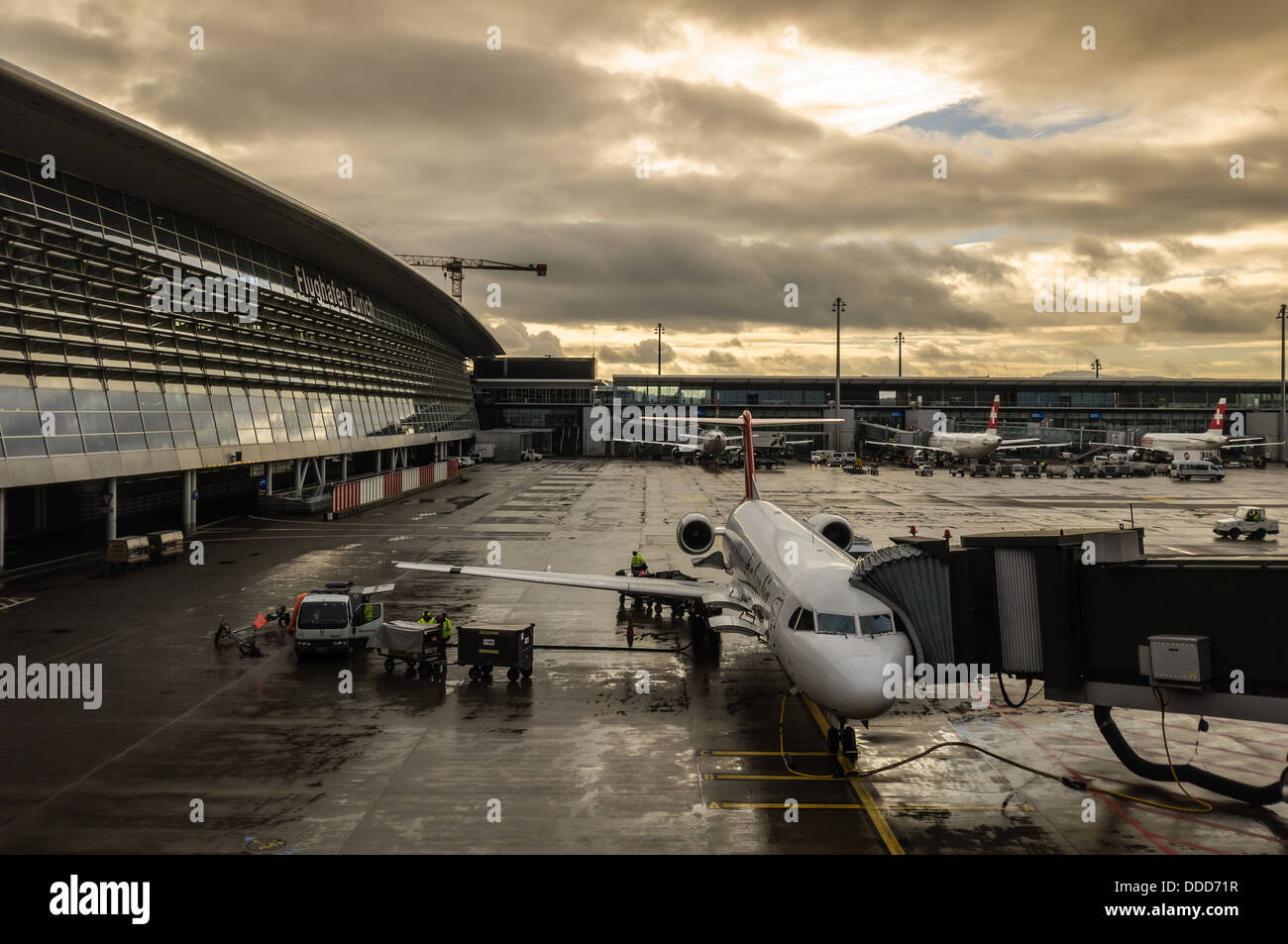 Zurich airport outdoors - Stock Image