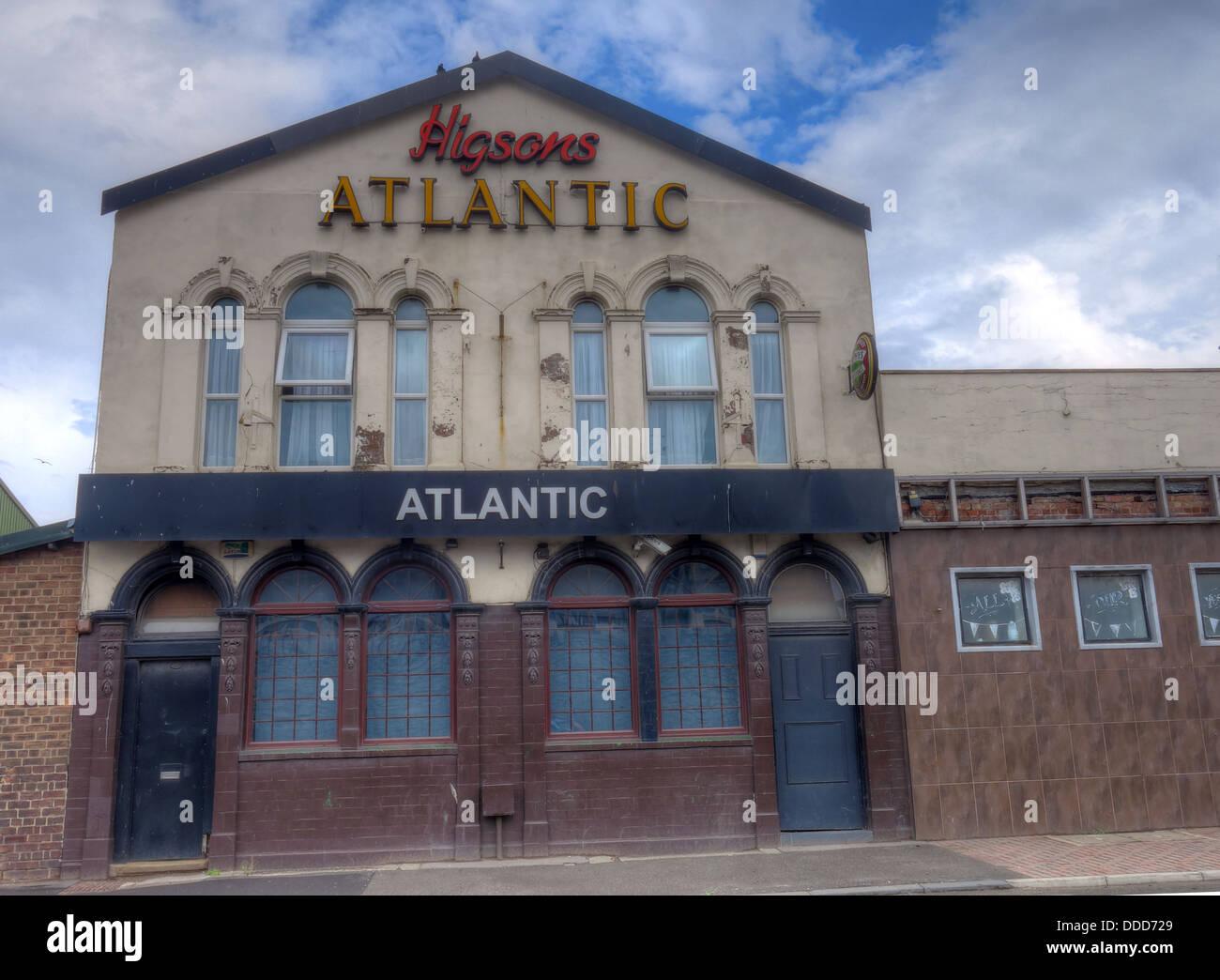 The Atlantic Pub, Higsons, Dock road, Liverpool L20 8DD - Stock Image