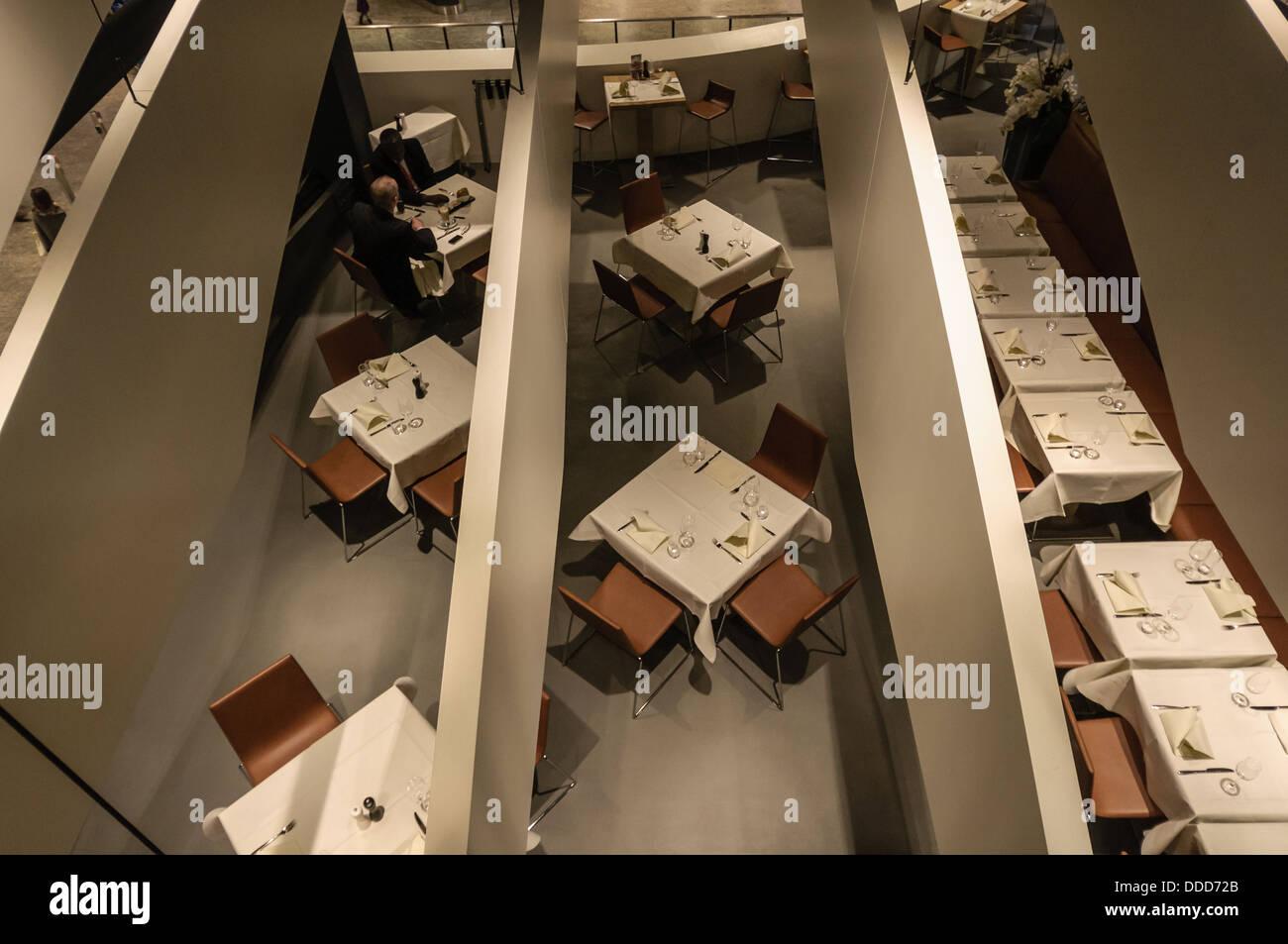 Zurich airport restaurant - Stock Image