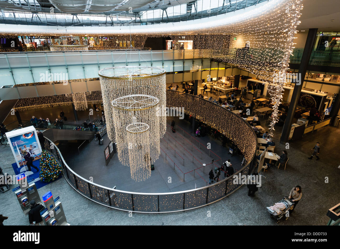Zurich airport hall - Stock Image