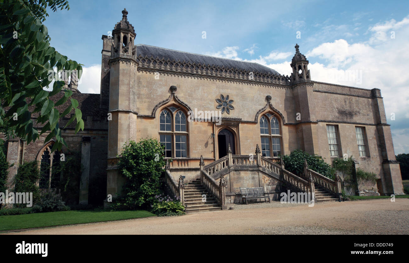 Lacock Abbey, Lacock, Chippenham, Wiltshire, South West England, SN15 2LG - Stock Image