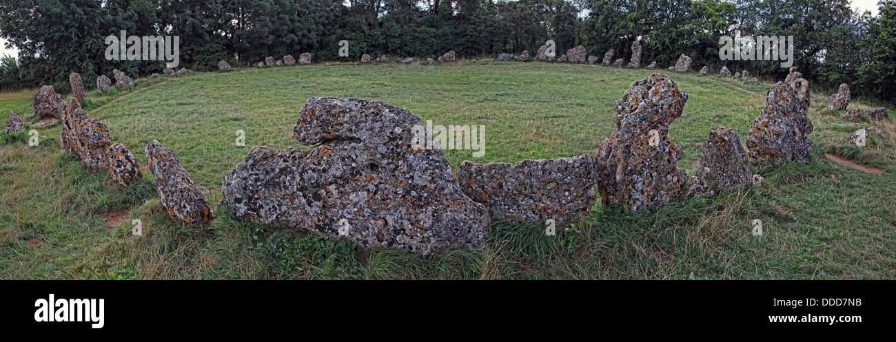 Roll Right Stones / Rollright Stones, neolithic monument, Long Compton, Warwickshire / Great Rollright, Chipping Stock Photo