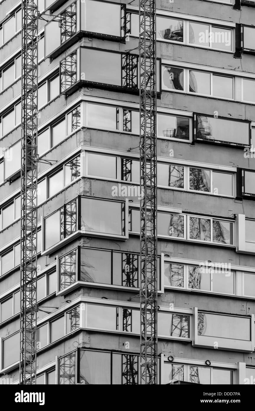 Construction site in Zurich, Switzerland. - Stock Image