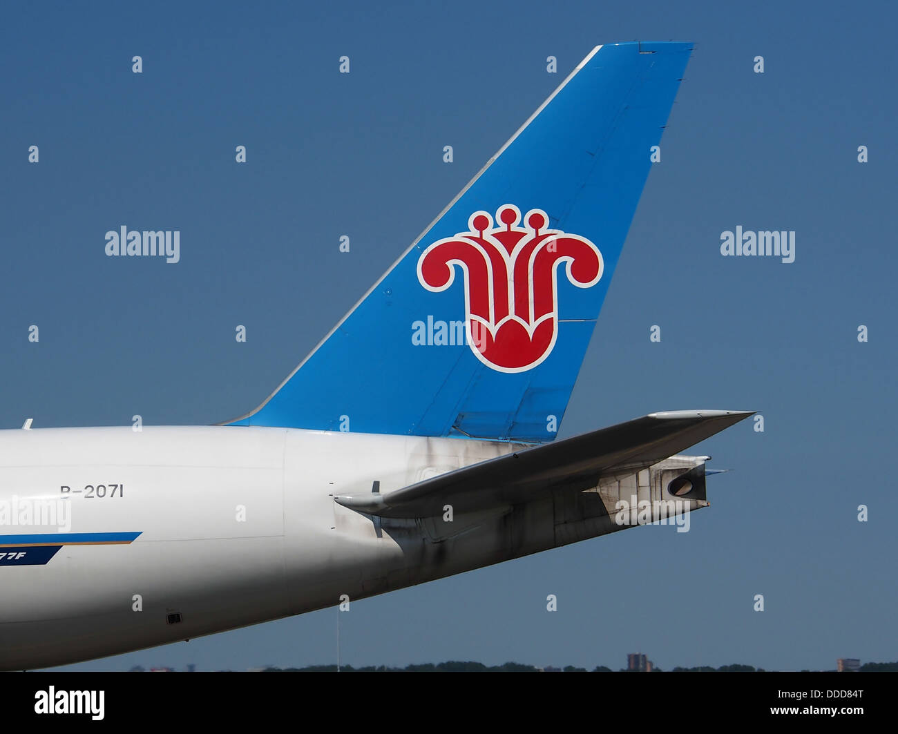 B-2071 China Southern Airlines Boeing 777-F1B - cn 37309, taxiing 21july2013 pic-005 - Stock Image