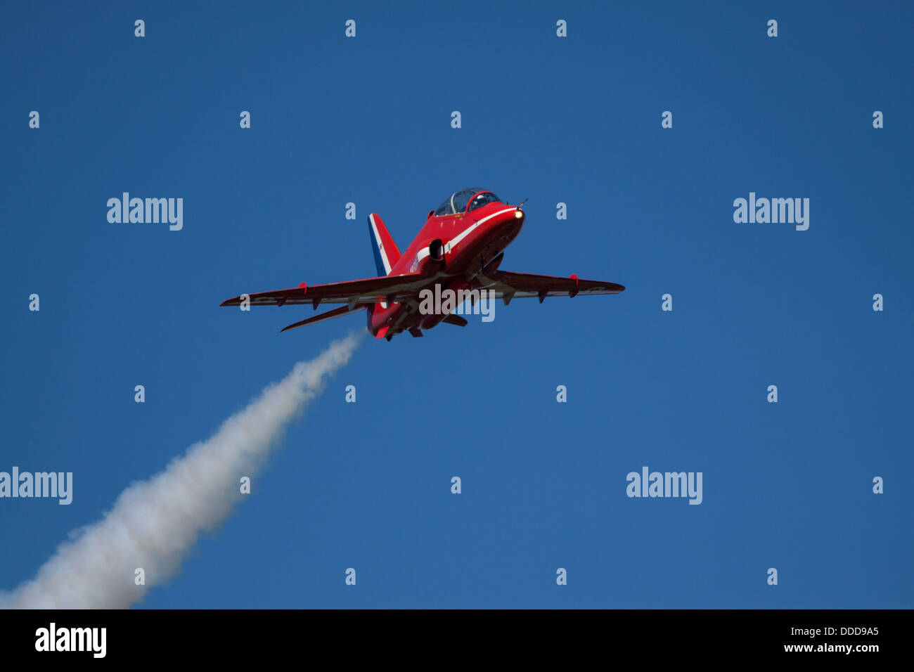 Red Arrows display at Bournemouth Airshow 2013 - Stock Image