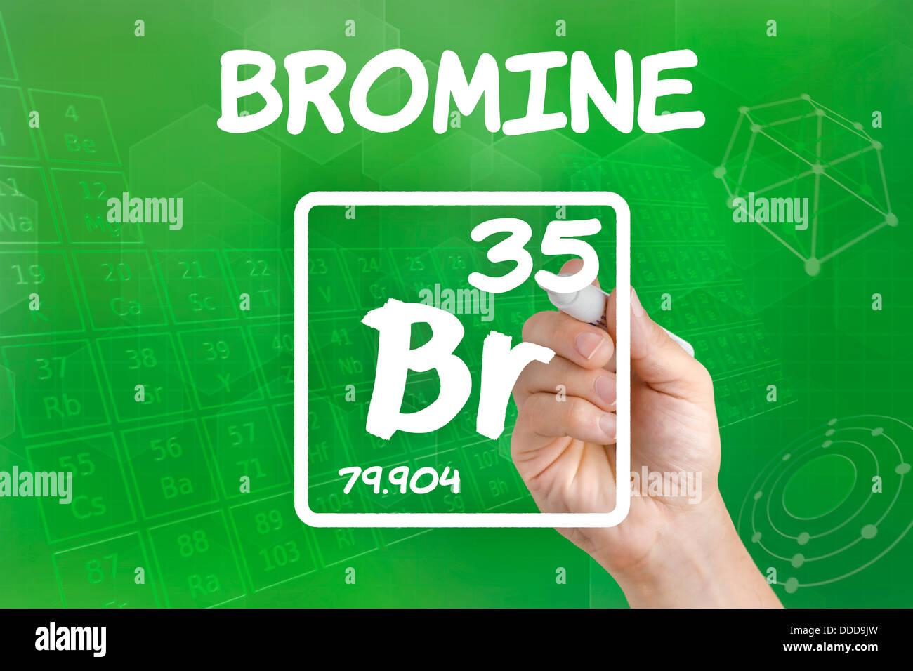 Symbol Chemical Element Bromine Stock Photos Symbol Chemical