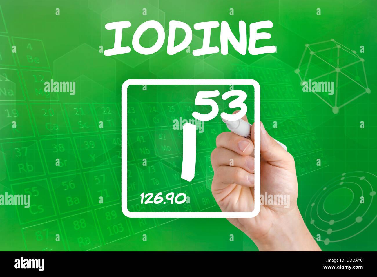 Symbol for the chemical element iodine stock photo 59915604 alamy symbol for the chemical element iodine urtaz Choice Image