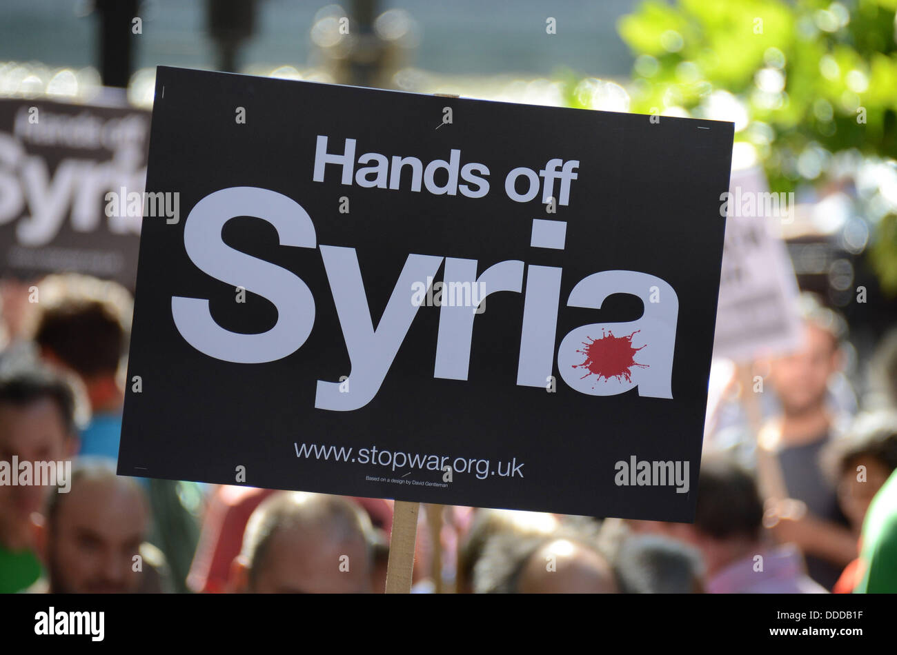 LONDON, UNITED KINGDOM. 31 AUGUST 2013. No attack on Syria - Stop the War march and rally in Central London (Photo - Stock Image