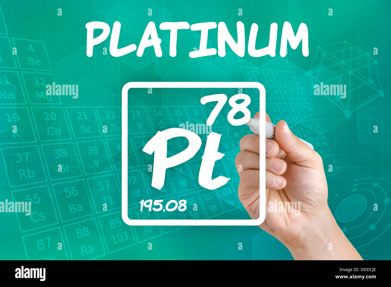 Platinum Pt Chemical Element Sign Stock Photos Platinum Pt